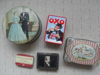 Five Vintage Tins - Including OXO, Cutex, Boots, Huntley, Palmers, Peak Freans