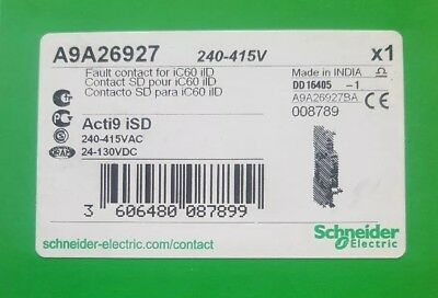 A9A26927 Schneider Auxiliary Contact 240-415Vac 24-130Vdc