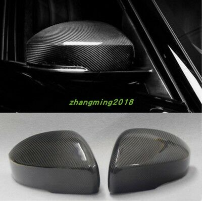 2PCS Carbon Fiber Rearview Mirrors Cover Trim For Range Rover Sport 2014-2018