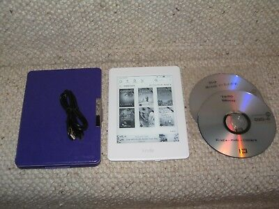 WHITE AMAZON KINDLE Paperwhite 3 7Th Generation G090 + 360 Books Bundle  Freepost