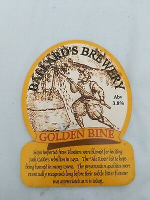 beer pump clip badge -. Ballards Brewery Golden Bine Ale