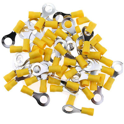 100Pcs 10—12AWG Insulated Terminals Ring Electrical Wire Crimp Connectors ( C8N3