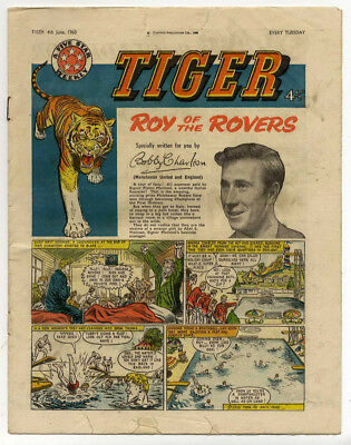 Tiger 4th June 1960 (Olac the Gladiator, Roy of the Rovers, Jet-Ace Logan)