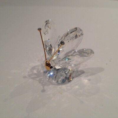 Swarovski Crystal  Butterfly Miniature 7667 035 000 Mint Boxed Retired