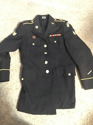 ASU Army Dress Uniform Jacket Coat Size 34RC