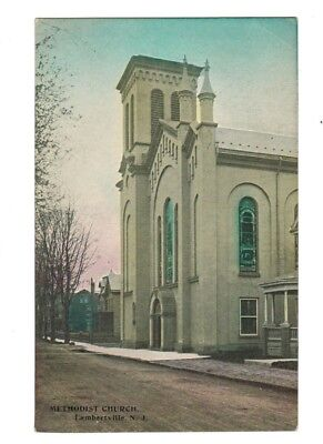 Lambertville Methodist Church Union Street PC Hunterdon NJ unmailed circa 1910's
