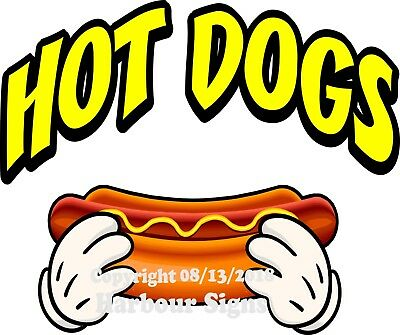 Hot Dogs DECAL (Choose Your Size & Color) Concession Food Truck Sticker M