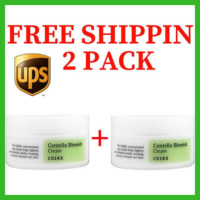 2PACK COSRX Centella Blemish Cream 30ml improves acne and relieves stressed skin