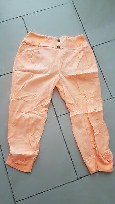 f98a44cfd4ad Damen Chino Boyfriend - Capri 3 4 Hose- Bermuda Shorts - orange - Gr