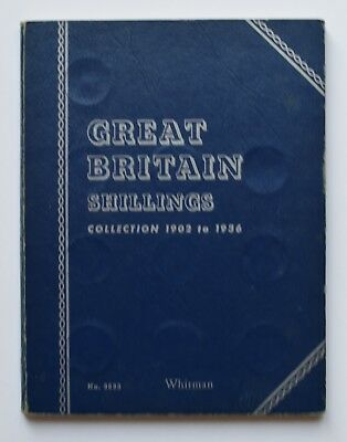 Great Britain Shilling 1902-1936 Whitman Folder Complete- Full Coin Collection