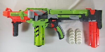 Nerf Vortex Nitron Battery Powered  Automatic Disc Shooter Blaster Firefly WORKS