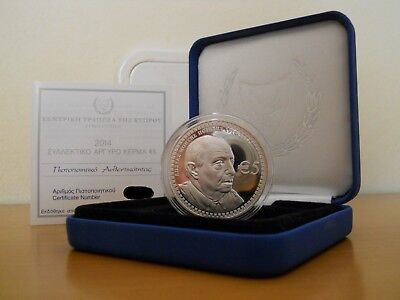 5 Euros Pp/be/proof Costas Montis 2014 Chypre Epuise