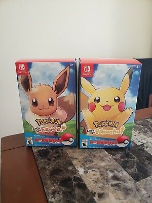 Pokémon: Let's Go, Pikachu AND Eevee! Poké Ball Plus Bundle - **Free Gift Wrap**