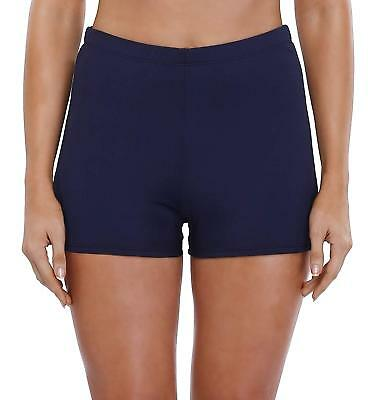 e770d5cb7e ATTRACO Womens Plus Size Board Short High Waisted Solid Stretch Boyleg Swim  Shorts Clothing