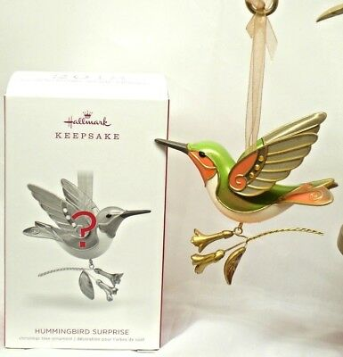 2018 Hallmark Hummingbird Surprise GOLDEN Beauty of Birds REPAINT Mystery RARE