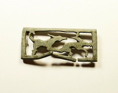 Very Rare Roman Bronze OpenWork Application depicting Dog chasing a Hare