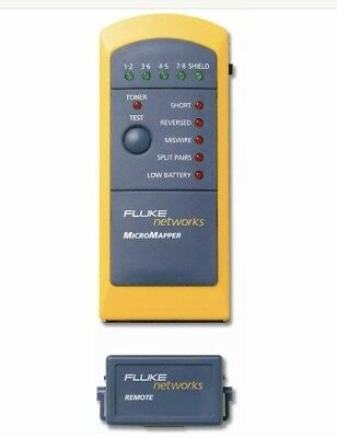 Fluke Networks MT-8200-49A MicroMapper LAN Wiremap Checker Cable Tester - NEW