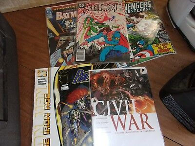 lot of 25 comics mostly copper and modern Batman.Spiderman. image,dc,marvel,ect