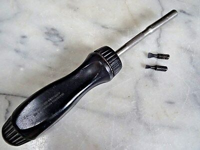 SNAP ON RATCHET SCREWDRIVER SSDMR4A w/2 Drive Heads Black Handle Made in USA
