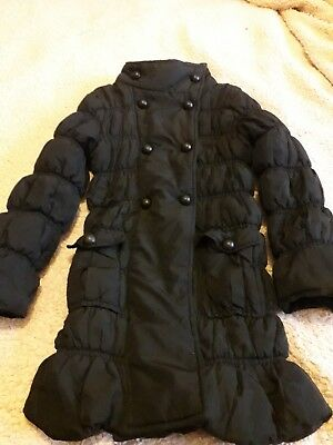 Next Girls Double Breasted Padded Quilted Jacket For Ages 5-6 Years-Good Cond.