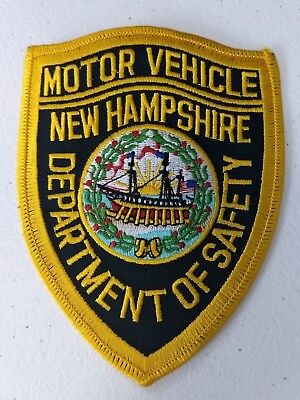 New Hampshire Nh Motor Vehicle Dept Of Safety Patch Boat Flag