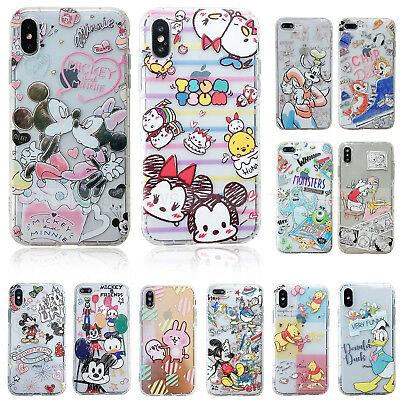 Disney Mickey Mouse antichoc TPU dos Coque souple Pour iPhone 6 s 7 P XR XS Max