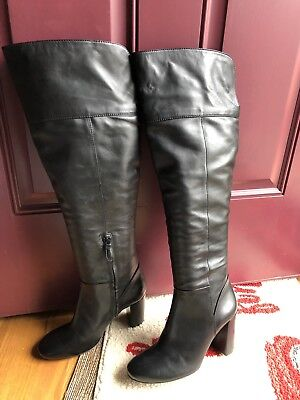 578ee6c9248 NEW  595 TORY Burch Bowie Black Leather Over the Knee Boot 9.5 ...