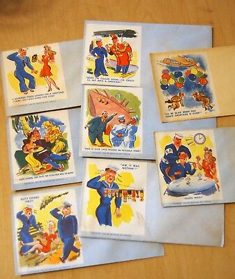 WWII US Navy/Army Set of 9 Mailing Envelopes POSTAL COVER Letter Size 1942