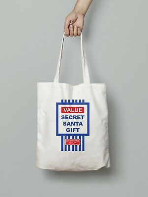 Value Secret Santa Gift Christmas Xmas Cotton Tote Present Tesco TOP VALUE,BAG