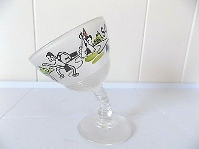 Vintage 1950s My Bender Corn Palace/Mitchell, SD Souvenir Frosted Cocktail Glass