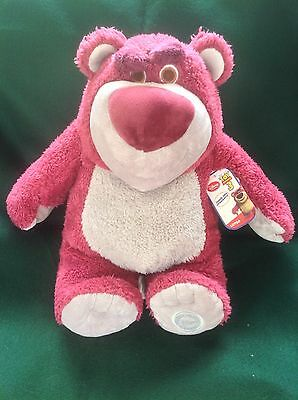 Disney Pixar Toy Story Large Strawberry Scented Lotso Bear Soft Toy - Tags!!!
