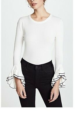Milly Layered Ruffle Sleeve Pullover Size P XS