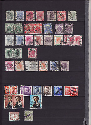Hong Kong - Qv-Qe Selection Over 40 Used Stamps Odd Duplication