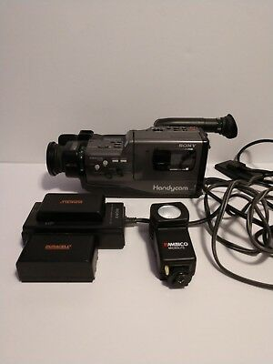 1988 Sony Handycam CCD-F30 Video 8 Camera Recorder Adaptor Battery Pack