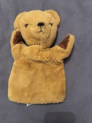 Merrythought Plush Bear Hand Puppet Vintage Great Condition Classic Teddy style