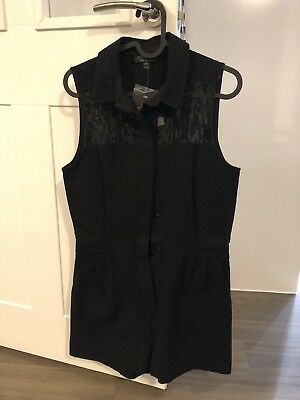 BNWT Black Playsuit From Topshop Size 10