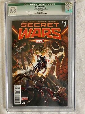 SECRET WARS #1of 8, Marvel Universe Events CGC 9.8, Signed by STAN LEE , COA