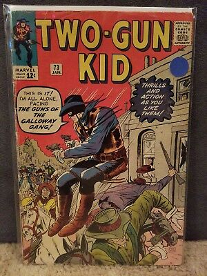 Two-Gun Kid #73 1965 Marvel Comics Stan Lee Story Dick Ayers Bag And Boarded