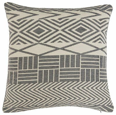 """Geometric Silver Grey Hard Wearing Thick Velvet 18"""" Cushion Cover £6.99 Each"""