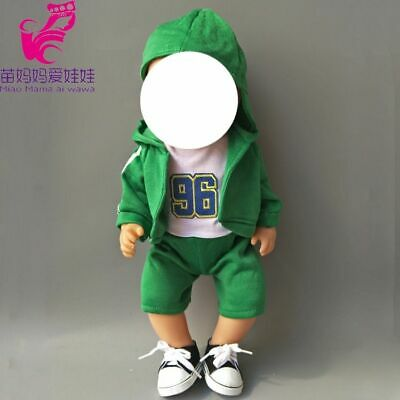 Outwear Pants Shirt Hat Fit For Baby Dolls Boy Clothes For Girl Doll Boy Outfit