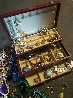 Estate Junk Drawer Lot of Vintage To Now Costume Jewelry over 16 lbs