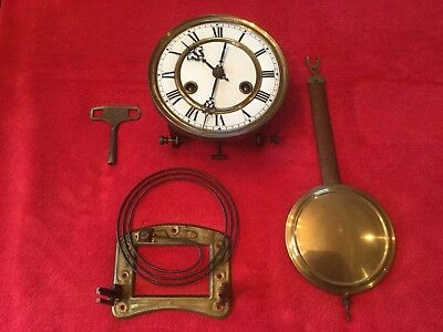 Vintage Two Train Vienna Wall Clock Movement Complete Working!