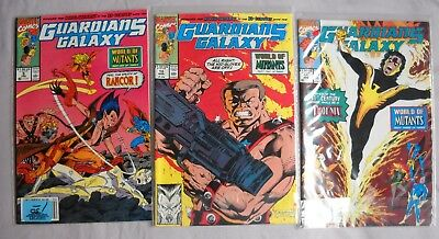 Guardians Of The Galaxy 9-11, Marvell 1991 *World of Mutants* complete Unread