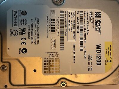 Western Digital 120GB Internal IDE Hard Drive PCB WD1200BB-98DWA0, WD 120GB 3.5