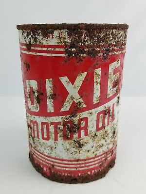 Vintage Dixie Motor Oil Quart Can High Point NC Rusty & Crusty