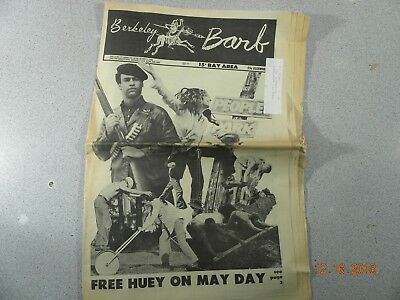 Berkeley Barb # 193, 1969 Underground Newspaper Free Huey On May Day Bay Area