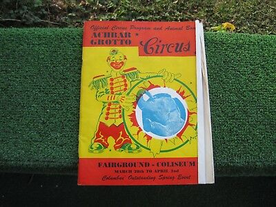 1949 Official Achbar Grotto Circus Program, Columbus, Ohio