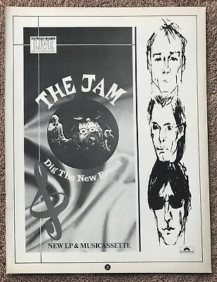 THE JAM - DIG THE NEW BREED 1982 full page magazine ad