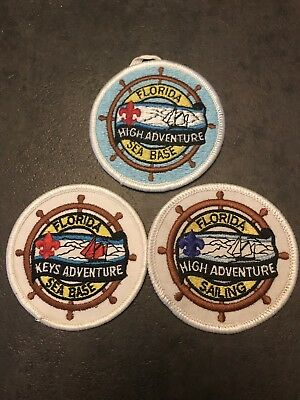 Three Different Florida Sea Base Patches