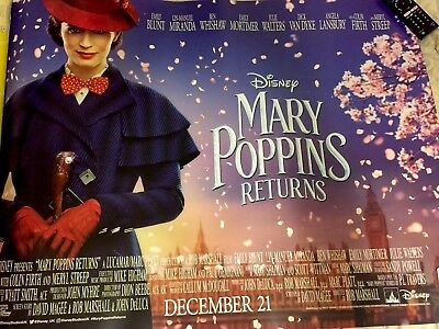 Mary Poppins Returns (2018) Original UK Cinema Quad Double-Sided Poster, Disney